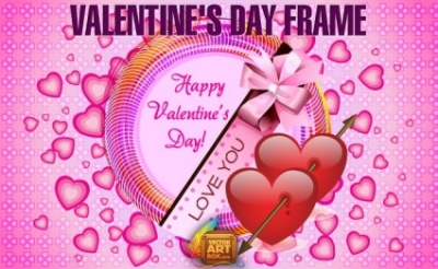 Free vector Vector Heart  Valentine's Day Frame