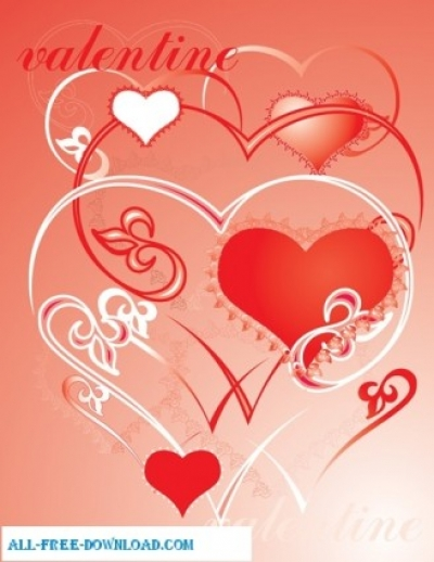 Free vector Vector Heart  Valentines day love ornament