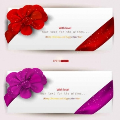 Free vector Vector background  Valentine's Day Set of Web Banners