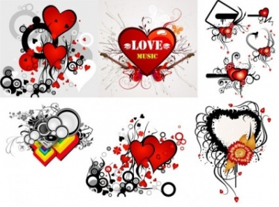 Free vector Vector Heart  valentine\u0026#39;s day heart-shaped theme trend vector illustration