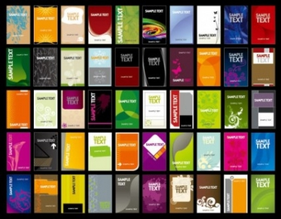 Free vector Vector misc  variety of business card template 01 vector