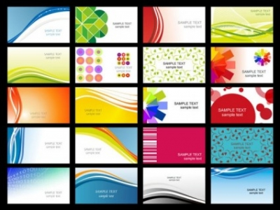 Free vector Vector misc  variety of dynamic flow line of business card templates 02 vector