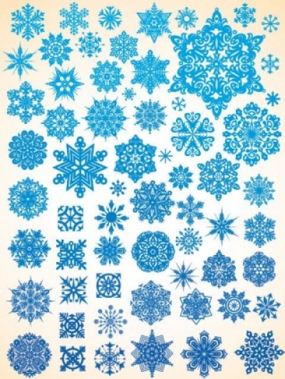 Free vector Vector misc  variety of snowflakes vector 1