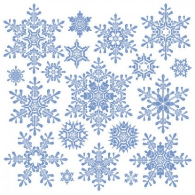 Free vector Vector misc  variety of snowflakes vector 2
