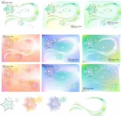 Free vector Vector background  Vector background of the stars and glare material