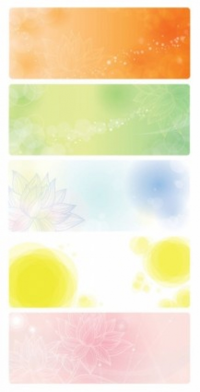 Free vector Vector banner  Vector Banners with Floral Background