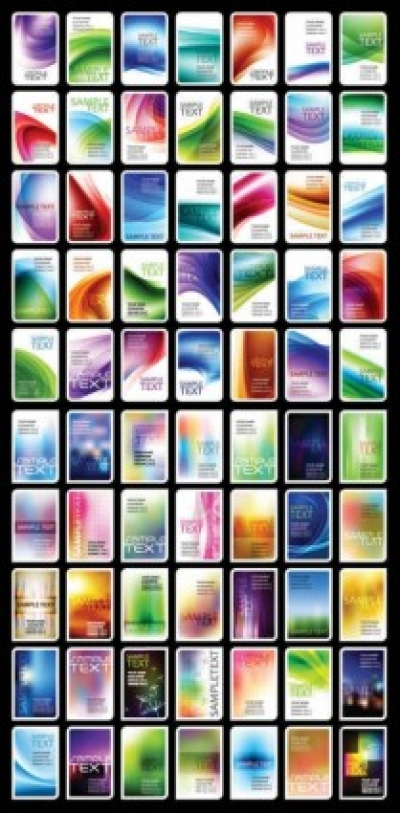 Free vector Vector background  Vector Business Card Collections