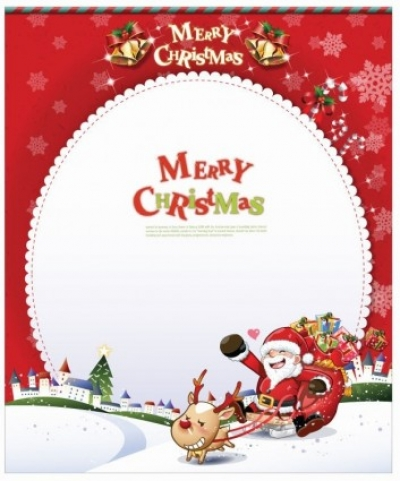 Free vector Vector Christmas  Vector Christmas Card with Santa Claus