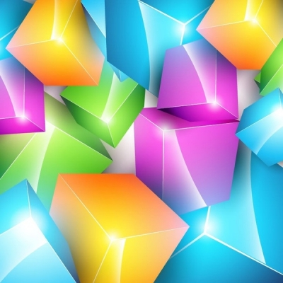 Free vector Vector background  Vector Colorful Cube Background