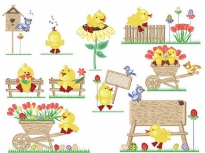 Free vector Vector misc  vector cute easter egg chicks