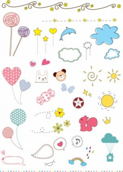 Free vector Vector misc  Vector Cute Elements