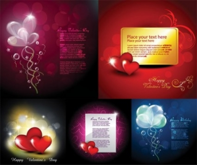 Free vector Vector Heart  vector elements of romantic love cards