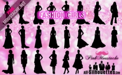 Free vector Vector Silhouettes  Vector Fashion Girls