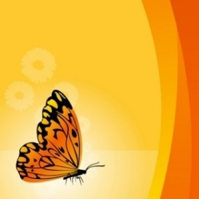 Free vector Vector floral  Vector Floral Background With Butterfly