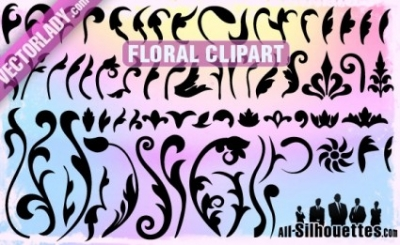 Free vector Vector Silhouettes  Vector Floral Clipart