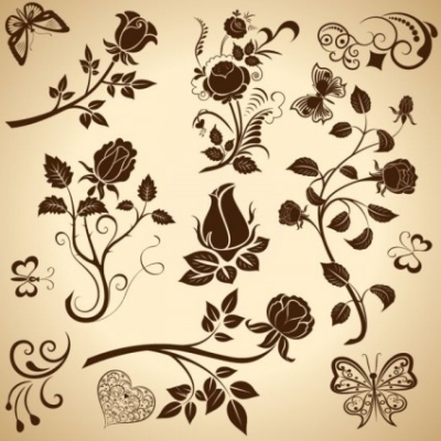 Free vector Vector floral  Vector Floral Elements
