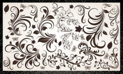 Free vector Vector floral  Vector Floral Elements and Vintage Backgrounds