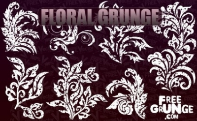 Free vector Vector floral  Vector Floral Grunge