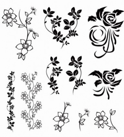 Free vector Vector floral  Vector Floral Pack