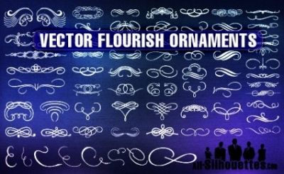 Free vector Vector Silhouettes  Vector Flourish Ornaments