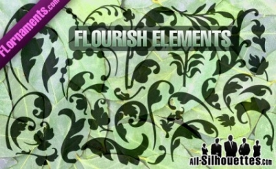 Free vector Vector Silhouettes  Vector Flourishes