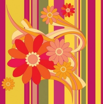 Free vector Vector background  Vector Flower with Color Background