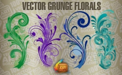 Free vector Vector floral  Vector Free Grunge Florals