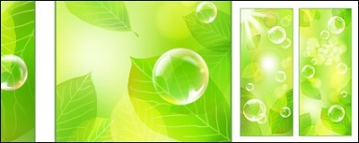 Free vector Vector plant  Vector fresh green background material