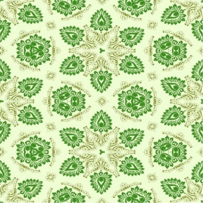 Free vector Vector floral  Vector Green Seamless Floral Ornament