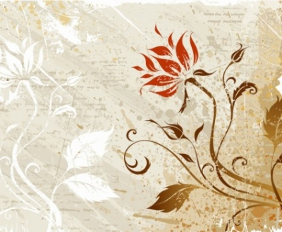 Free vector Vector floral  Vector Grunge Floral