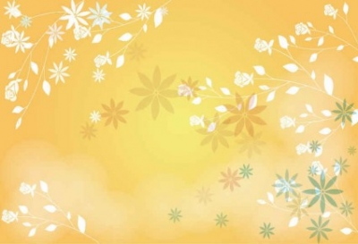 Free vector Vector background  Vector Orange Palm Flower Background