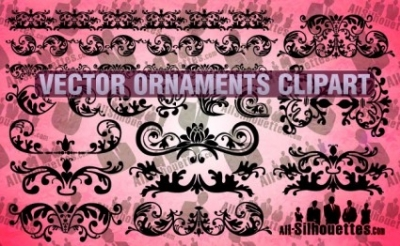 Free vector Vector Silhouettes  Vector Ornaments Clipart