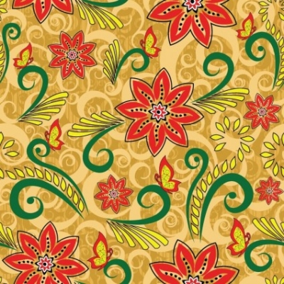 Free vector Vector floral  Vector Retro Floral Seamless Pattern