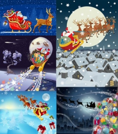Free vector Vector misc  vector santa claus gifts