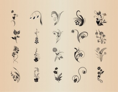 Free vector Vector abstract  Vector Set of Abstract Patterns of Floral