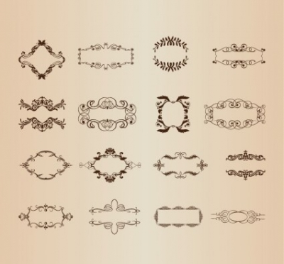 Free vector Vector misc  Vector Set of Decorative Frame Elements