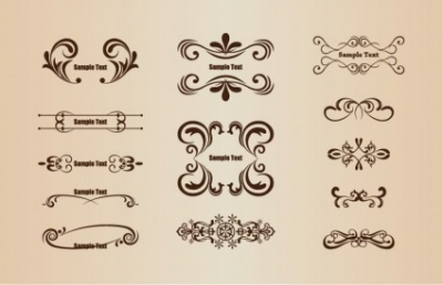 Free vector Vector floral  Vector Set of Floral Design Elements
