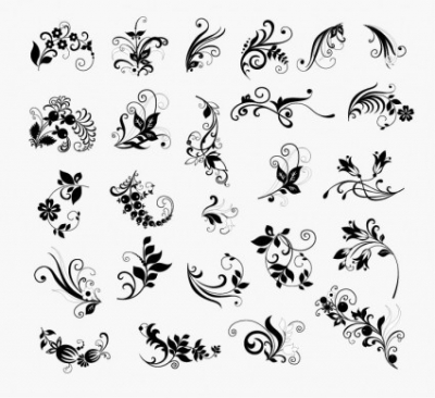 Free vector Vector floral  Vector Set of Floral Elements for Design