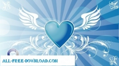 Free vector Vector trust to nature  Vector Winged Heart Background