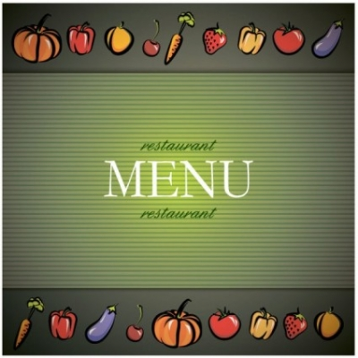 Free vector Vector background  vegetable menu background vector
