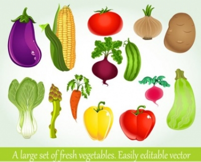 Free vector Vector background  vegetables background 04 vector