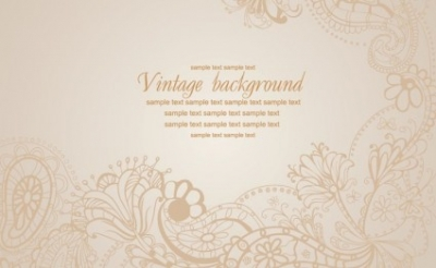 Free vector Vector floral  Vintage Floral Vector Background