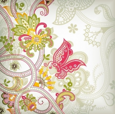 Free vector Vector pattern  Vintage Flower Pattern Background Vector Art