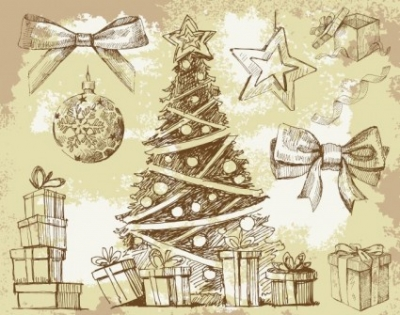 Free vector Vector misc  Vintage New Year Christmas Elements