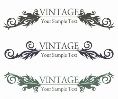 Free vector Vector floral  Vintage Style Floral Design Vector Graphic