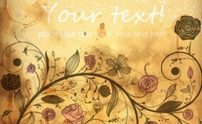 Free vector Vector floral  Vintage Vector Floral Background