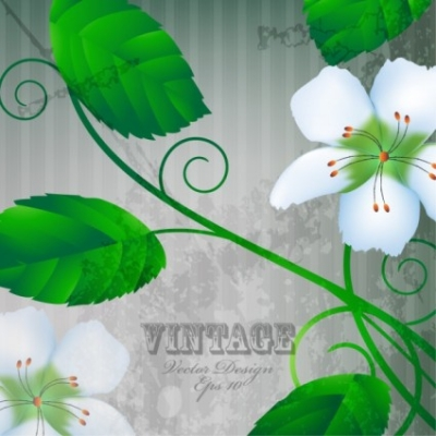 Free vector Vector flower  warm flowers background 05 vector