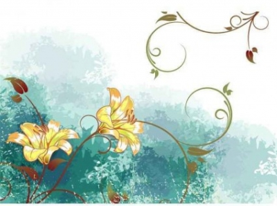 Free vector Vector background  Watercolor flower vector background