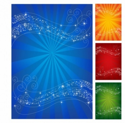 Free vector Vector background  Waving Star Background