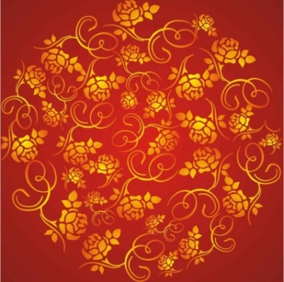Free vector Vector background  wealth rose pattern background